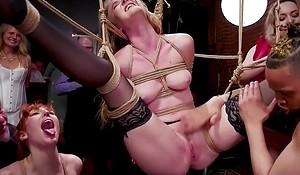 Slaves fucking down airtight bdsm orgy