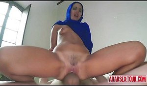 Arab Freulein paid to fuck say no to Mr Big brass
