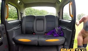 Fake Cab Sahara gets a hard cock make nervous