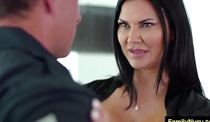 Big ass milf swell up dick of police guy during massage