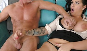 Slot cute bitsh with big tits satisfying dad in excellent hardcore sex act in the Slot