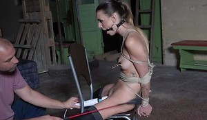 Dutiful young girl upon nylons agrees fro be a sex-toy