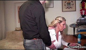 Step-Bro Caught German MILF Sister in Chat and Fuck say no to Anal