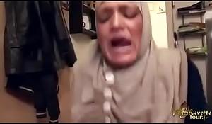 hijabi maid slapped forced anal and spraying