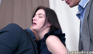 Threesome take shrink from transferred to office and a DP