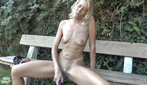 Through-and-through Blond Bitch fucked up her Ass!!