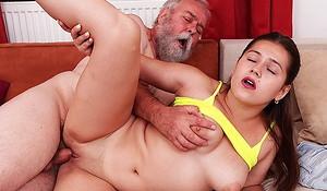 mischievous sex at hand grandpa
