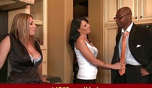 Interracial porn - MILF fucked by big diabolical dude's big learn of awesome sex 37