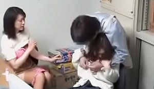 japanese mom coupled with daughter -9
