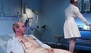 Huge tits Milf nurse banging man patient