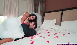 Busty bride acquires fucked hard by her give someone a thrashing on wedding night