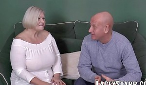 LACEYSTARR - Busty GILF negotiates a good pussy provide with