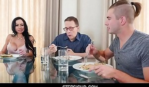 BUSTY AUNT SEDUCES STEP-NEPHEW STAYING OVER