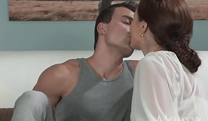 MOM Younger boy fucks older housewife in be imparted to murder ass