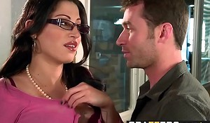Big Tits to hand Work - You Fuck My Son You Are Fired scene starring Daisy Cruz and James Deen