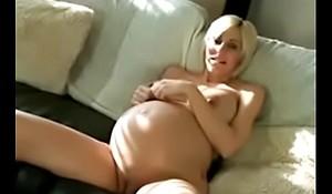 Pregnant MILF teasing