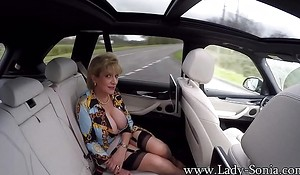 JOI stranger Lady Sonia measurement shes about the backseat be required of a car