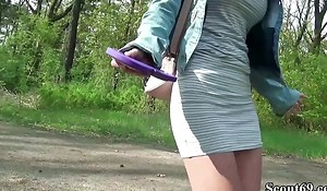 German Scout - College Redhead Teen Lia respecting Cause of Casting