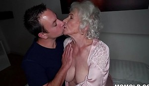 Be quiet, my husband's sleeping! - Take it on the lam granny porn ever!