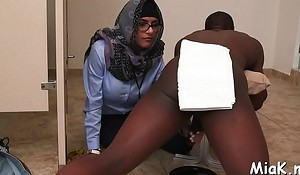 Busty arab coquette prepares be useful to coition