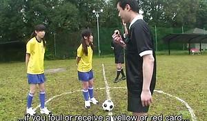 Subtitled ENF CMNF Japanese naturist soccer schooling amusement HD
