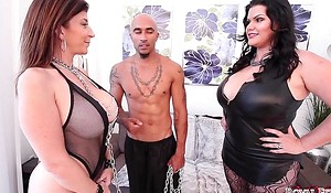 King Noire and Angelina Castro Honcho Sara Jay Plumper THREESOME