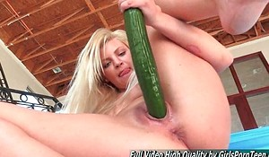 Mature Alex blonde going knuckle deep and stick cucumber