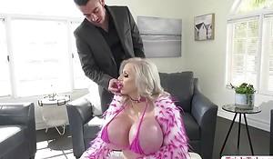TS Juliette chokes deepthroating dudes cock